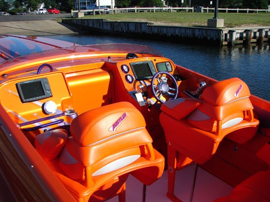 Hustler power boat
